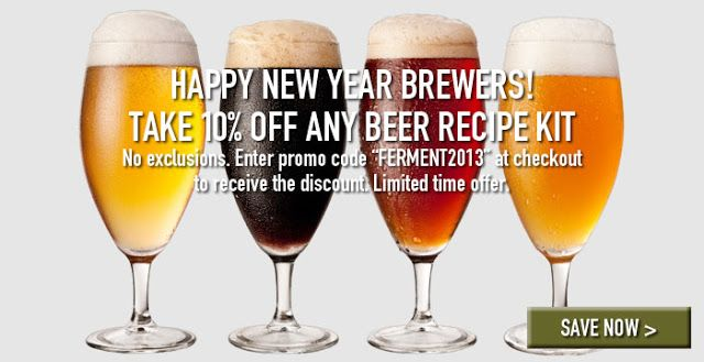 Homebrew Finds: Midwest Supplies: 10% Off All Beer and Wine Recipe Kits
