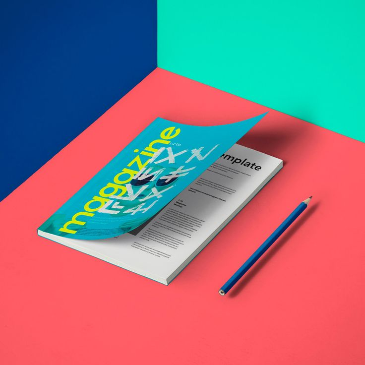 Mockup Revista A5 psd v14