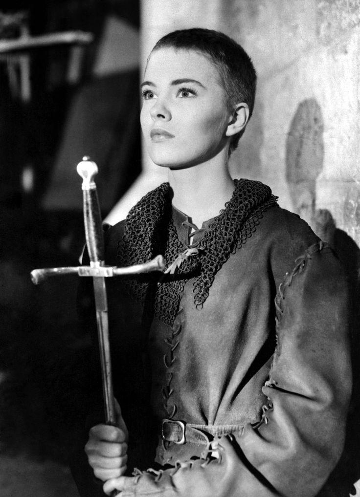 """Jean Seberg as St.Joan of Arc in """"Saint Joan"""" (1957)"""