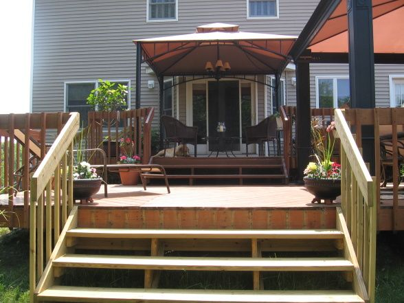2 Tier Deck Designs | Outside Living Area-Deck - Patios ... on Tiered Patio Ideas id=24035