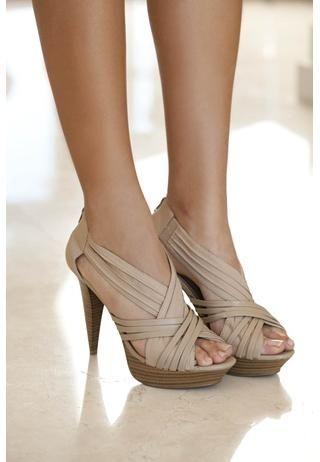 Cute Spring/Fall nude heels: Nudes Shoes, Summer Shoes, Platform Pumps, Criss Crosses, Summer Heels, Nudes Heels, Bridesmaid Shoes, Body Central, Crisscross Platform