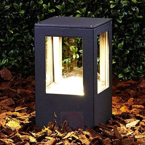 Rektangulær Nicola LED-sokkellampe, IP54-9618008-22