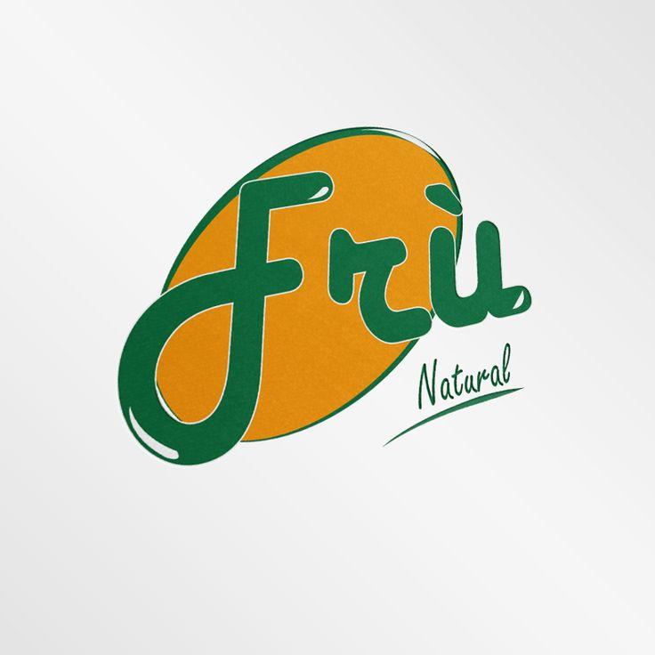 Progettazione marchio per succhi di frutta. Frù #design #logo #grafica #graphic #fruit #juice #fru @graphiCreation