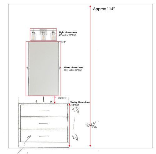 Extremely Ideas Bathroom Vanity Light Height Above Mirror ... on Height Of Bathroom Sconce Lights id=76271