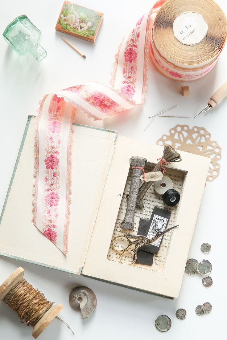 For the Makers DIY Carved Hidden Book Storage: Stash your sewing notions in a book!