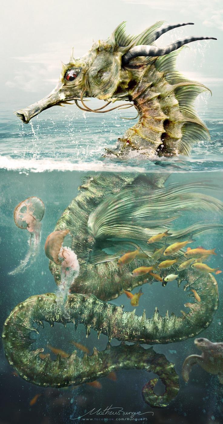 Seahorse Dragon por Matheus Rungue
