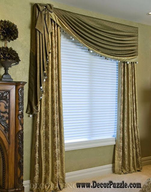 615 best curtains images on pinterest for Curtains for bedroom windows with designs