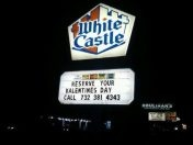 Nothing says Valentine's Day like white castle.