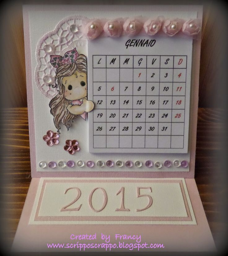 Calendario da tavolo fai da te ks28 regardsdefemmes - Calendario 2017 da tavolo ...