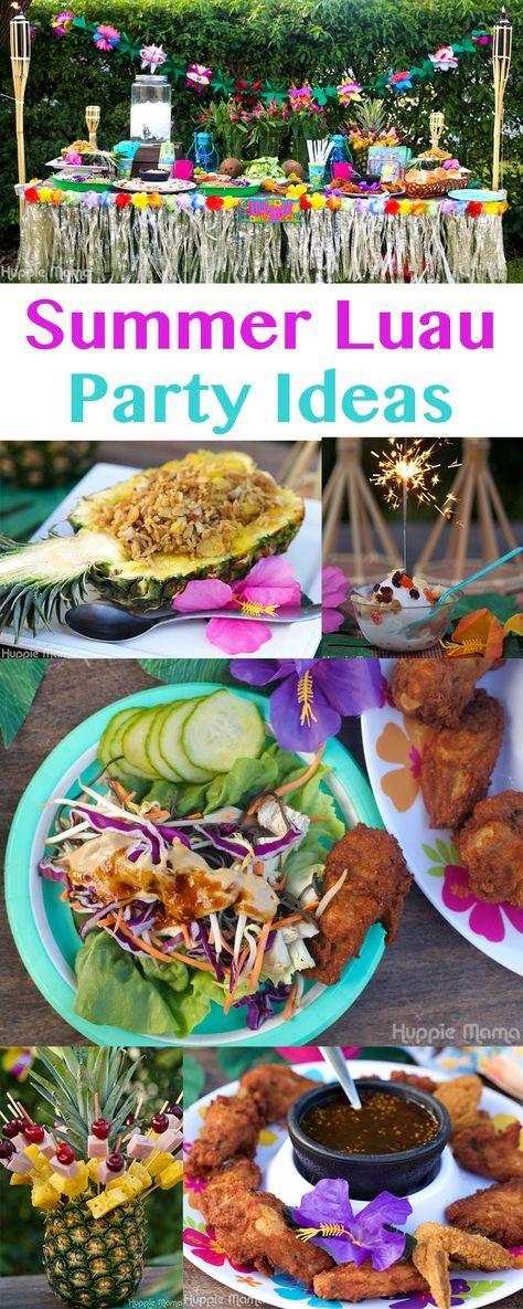 #AD Summer Luau Party Ideas #SummerYum
