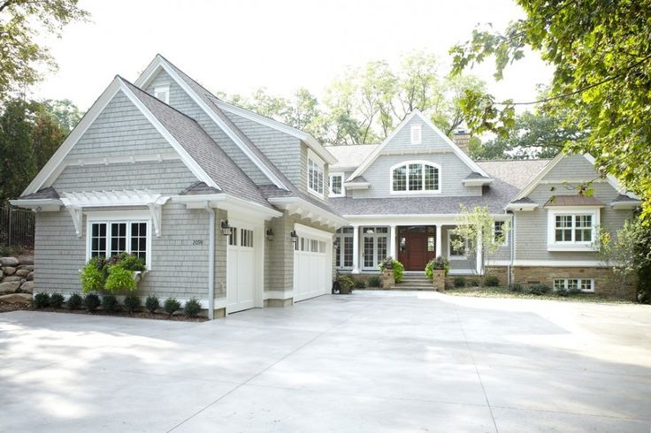 homes with grey roof shingles | ... Gray Shingle Exterior Plus Gray Shingle Siding With Stone Exterior And