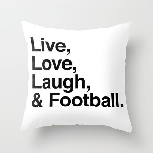 And Football! Throw Pillow | dotandbo.com