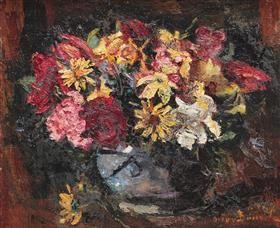 Vase with Field Flowers - Octav Bancila