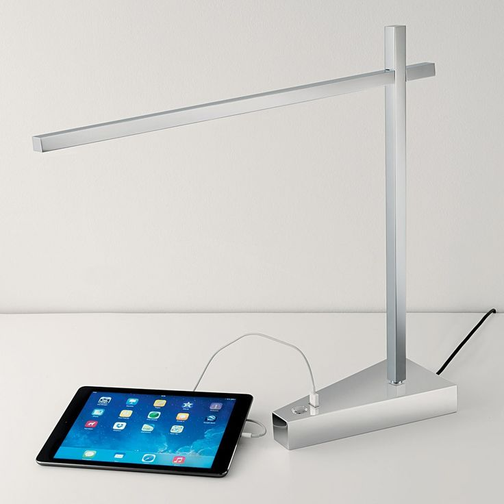 Chelsom Crane Desk Lamp With USB Charger | Houseology