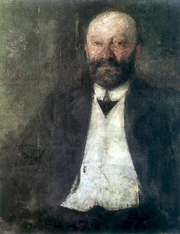 The Athenaeum - Portrait of the Artist's Father (Olga Boznańska - )