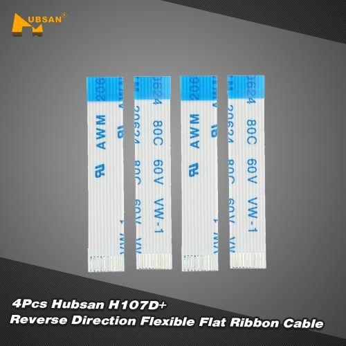 4Pcs Original Hubsan H107D+-12 0.5mm Pitch 10Pin Reverse Direction Flexible Flat Ribbon Cable for Hubsan H107D+ RC Quadcopter