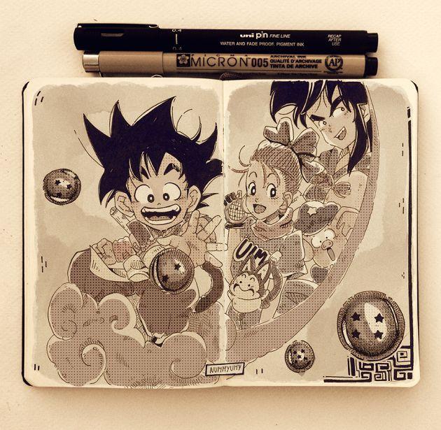 Dragon Ball #anime #bulma #dragonball #fanart #goku #manga #puar #songoku #yamchan #oolong