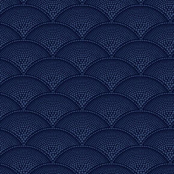 Papier peint géométrique bleu FEATHER FAN - Cole and Son - Au fil des Couleurs