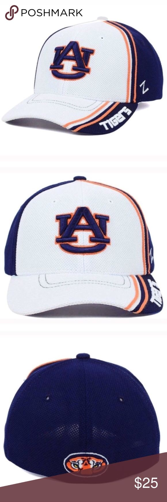 Auburn tigers hat cap Show your support for the NCAA and the Auburn Tigers this year with the Auburn Tigers NCAA Slash AG Cap. Rain or shine, this White hat will keep you in style all year long. Stay comfortable and cool with this structured hat, featuring a normal bill and medium crown. Imported and made of woven polyester, this product requires easy spot clean product Color: White Made of 100% Polyester, Woven Stretch Fitted Structured Fit Mid Crown Normal Bill Raised Embroidery Letter on…