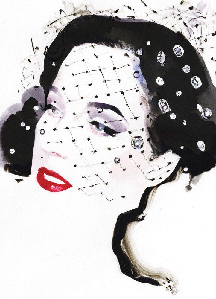 Fashion иллюстратор Дэвид Даунтон