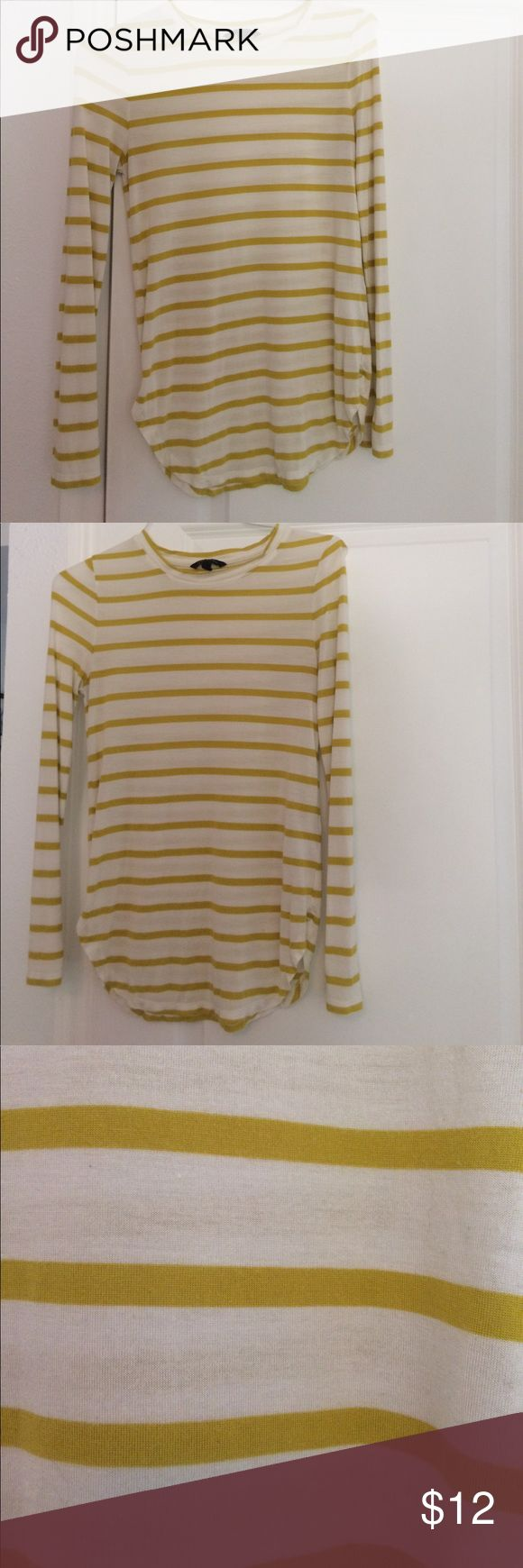 Striped Banana Republic L/S Tee 100% modal. Good condition. Wear under a vest for fall! Shortly longer in back than front. Banana Republic Tops Tees - Long Sleeve