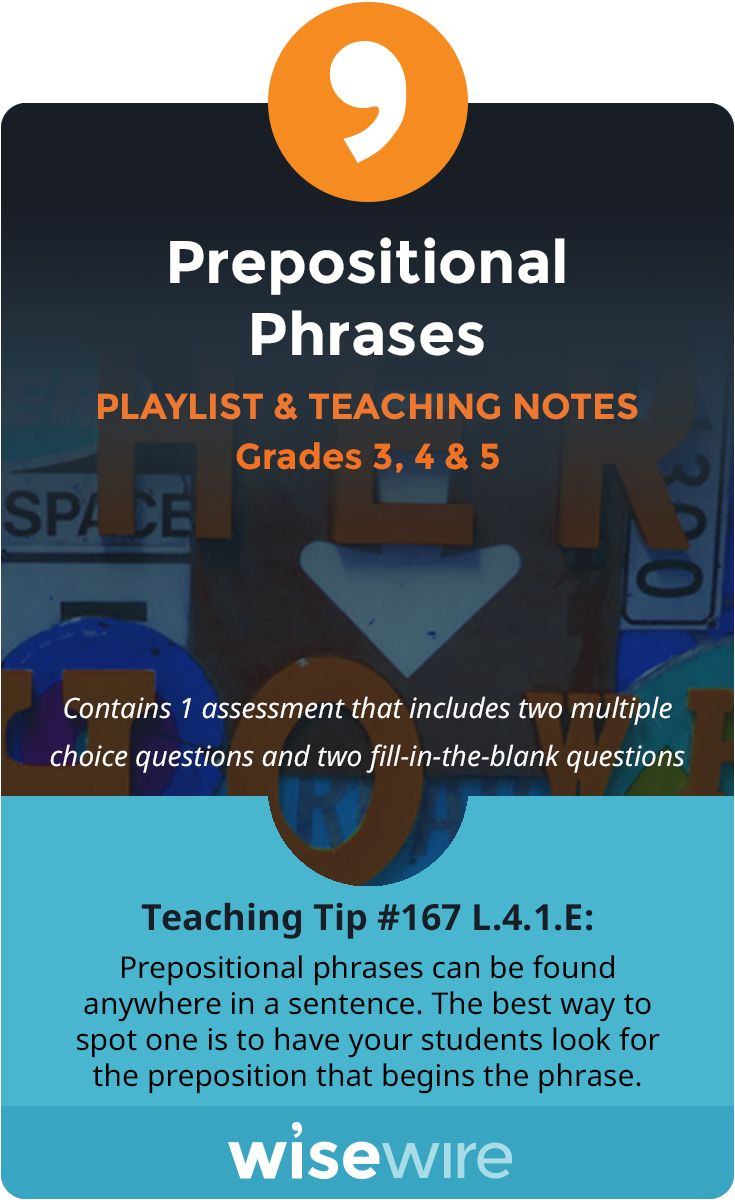 Best 25 prepositional phrases ideas on pinterest teaching in this playlist students explore standard they will identify prepositional phrases in sentences and identify the parts of prepositional phrases robcynllc Image collections
