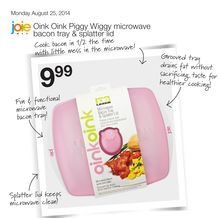 Oink Oink Piggy Wiggy microwave bacon tray & splatter lid from Home Outfitters $9.99