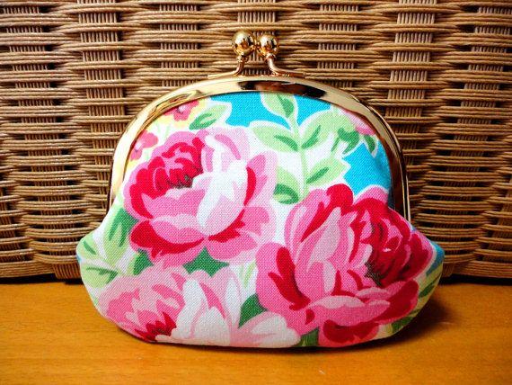 Elegant Rose floral Coin wallet by SpringFlavor on Etsy, $13.00