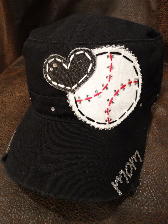 Hey, I found this really awesome Etsy listing at https://www.etsy.com/listing/175876560/baseball-love-mom-bling-cadet-style-cap
