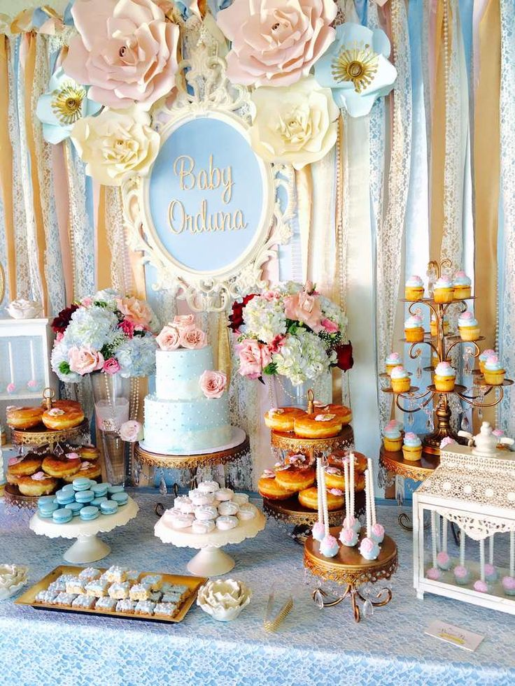 17 best ideas about vintage baby showers on pinterest for Baby shower decoration pics