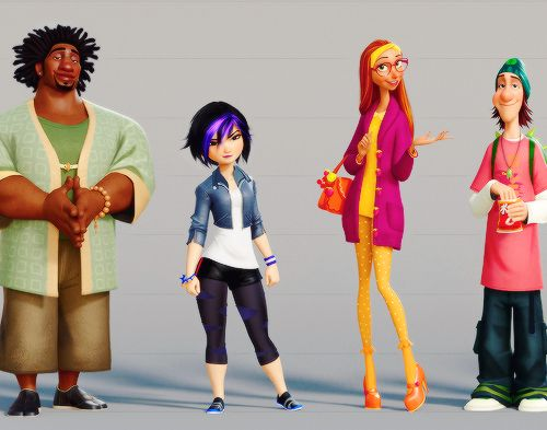 Big Hero 6 Cartoon Characters Names : Best images about big hero on pinterest