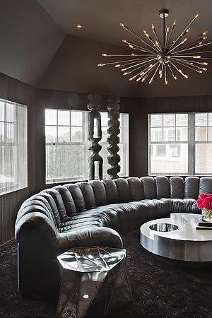 De Sede DS 600 sofa and Rizzo coffee table in Sagaponack home.