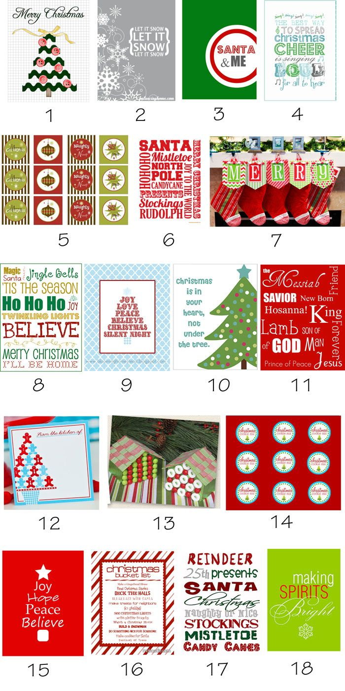 Pampers, Play Dates and Parties: {Roundup} 53 Free Christmas Printables