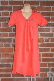 salmon orange wrap tunic/dress $99