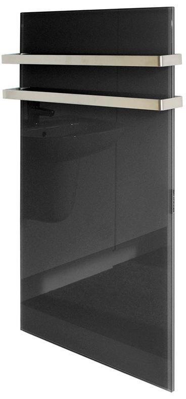 G-OLD Üveg infrapanel fekete kettes törülköző szárítóval és infrafűtés
