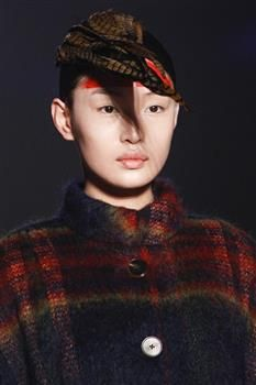 Hat (6a) by Prudence Millinery for Vivienne Westwood Gold Label Autumn Winter 2014 2015 http://viviennewestwood.prudencemillinery.com