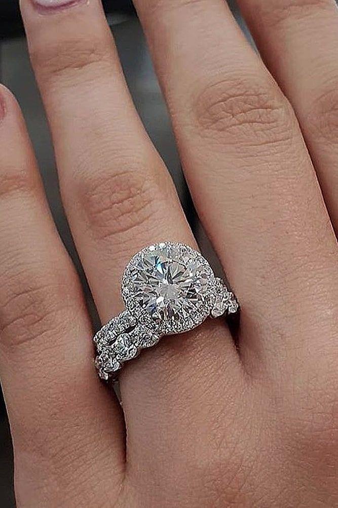 48 Fantastic Engagement Rings 2021 Wedding Forward Trending Engagement Rings Halo Wedding Rings Sets Wedding Rings Halo