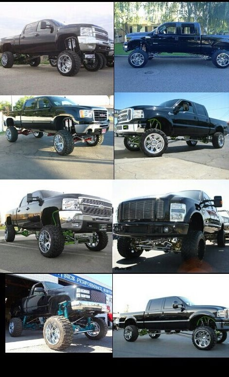 Lifted trucks #fave