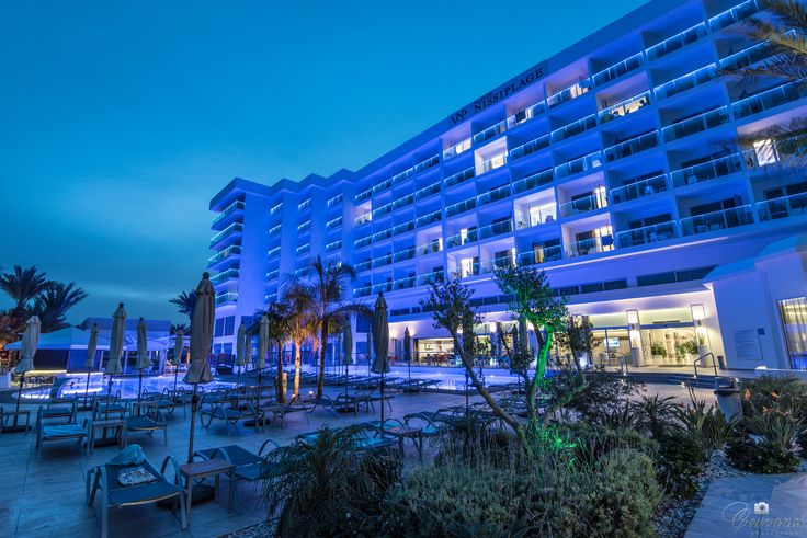 Photo shooting outdoors in Vassos Nissi Plage Hotel in Ayia Napa resort, Cyprus island.