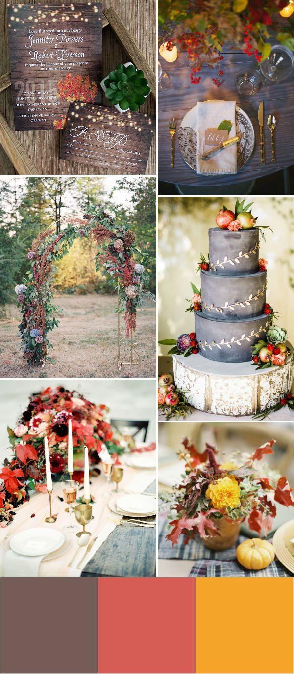 country wedding colors for fall 65 best images about fall wedding colors on 27957