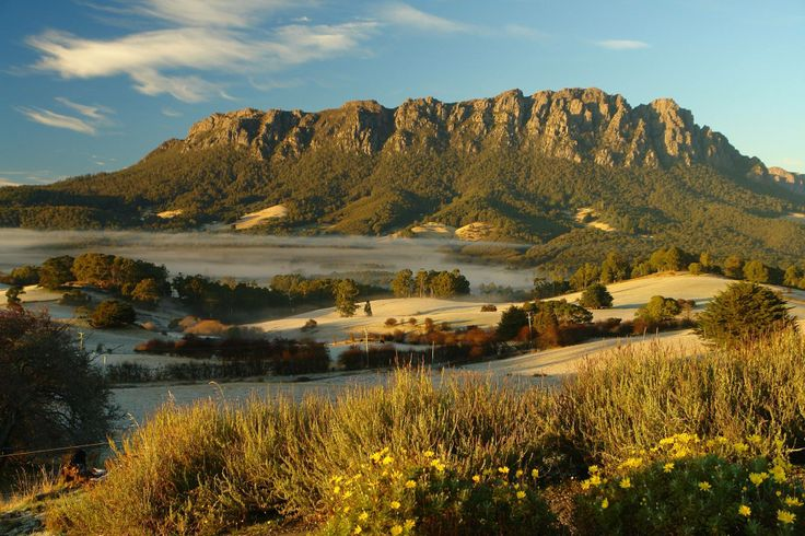 A serene shot of Mount Roland near Sheffield in Tasmania's North West. #sheffield #tasmania #discovertasmania Image Credit: Dan Fellow