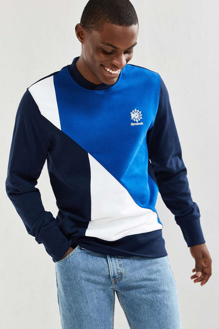 Reebok Retro Crew Neck Fleece Sweatshirt