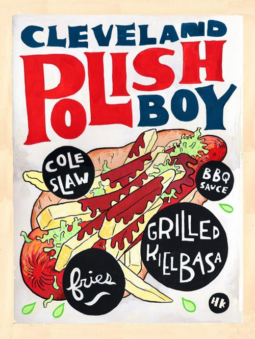 """Cleveland, Ohio's Polish Boy. Esquire magazine says that Freddie's Rib House's Polish Boys are one of the best sandwiches in America. Chef Michael Symon cited the Polish Boy from Seti's as """"The Best Thing I Ever Ate"""" on the Food Network show."""