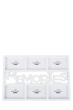 """This 6 picture collage frame is a great way to display treasured memories.<div class=""""pdpDescContent""""><BR /><b class=""""pdpDesc"""">Dimensions:</b><BR />L47.5xW1.5xH32.5 cm</div>"""