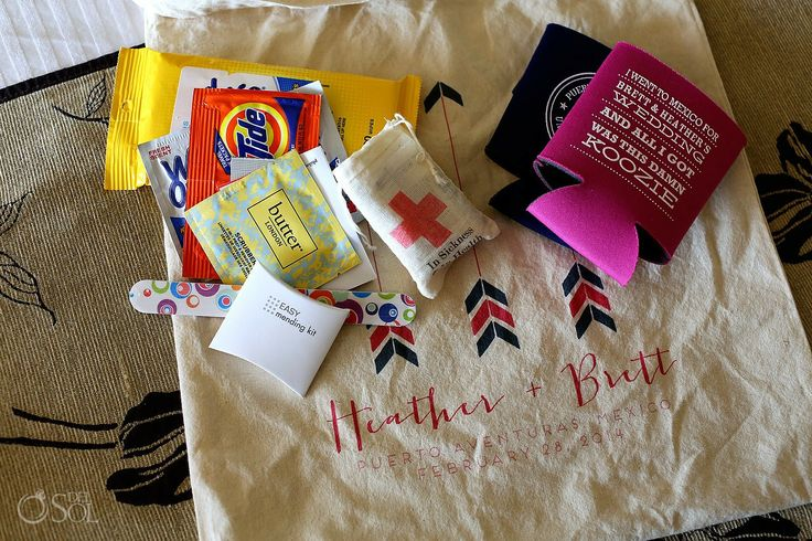 Wedding Gift Bag Ideas Mexico : Unique gift bag contents for a destination wedding in the Riviera Maya ...