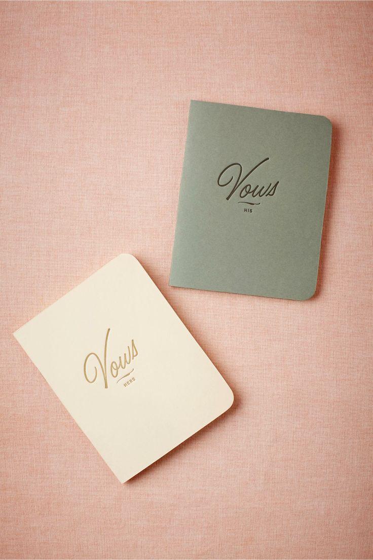 Letterpress vow journals.