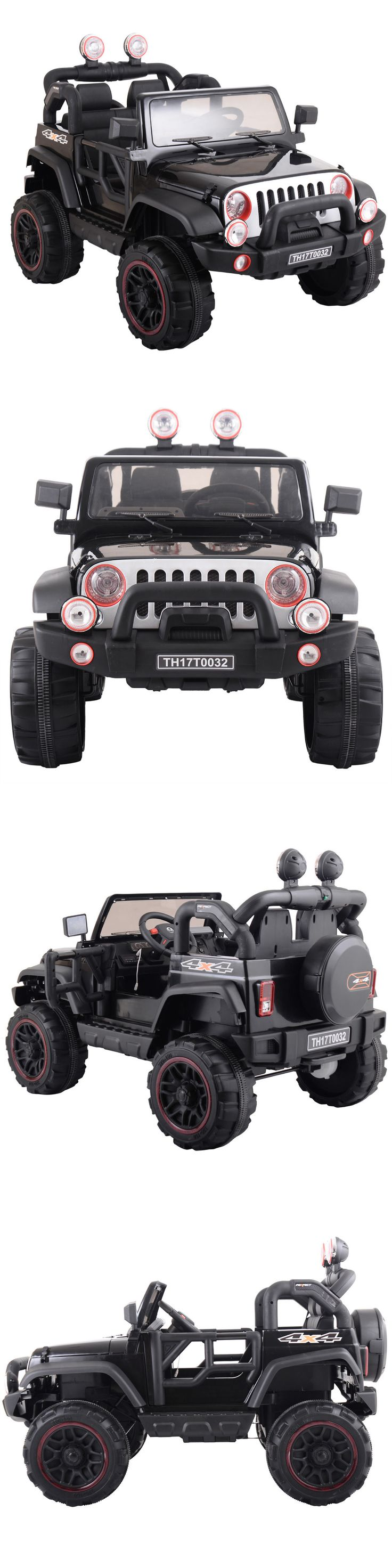 Ride On Toys and Accessories 145944: 12V Jeep Style Kids Ride On Battery Powered Electric Car W Remote Control Black -> BUY IT NOW ONLY: $248.99 on eBay!