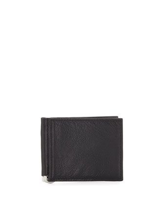 Money-Clip Bi-Fold Wallet, Black by Neiman Marcus at Neiman Marcus Last Call.