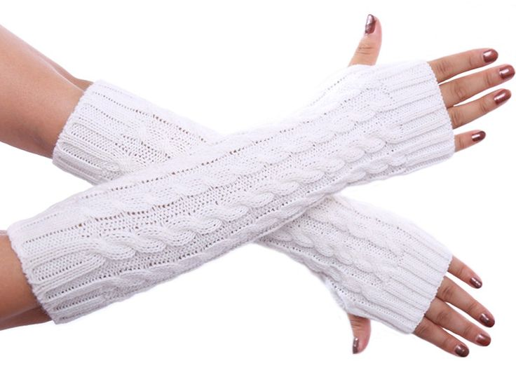 """Senchanting Stretchable Weave Knit Arm Warmers for Girls Long Gloves. Material: Knit Hollow Out. Knitted Fingerless Gloves,Fingerless style allows free and easy finger movement.A great accessory to keep your arms warm during cool and cold weather. Package included: One pair arm warmers with Senchanting's brand tag. Keep your arms warm,a great arms warmer and clothes decoration for you. ATTENTION PLEASE:This items ONLY fulfilled by Amazon and seller """"Eastron"""".Items offered by other sellers…"""