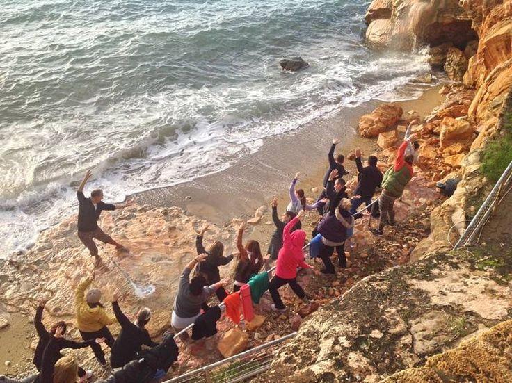 Seaside #yoga! #ThermaeSylla #HealthyLiving #Nature